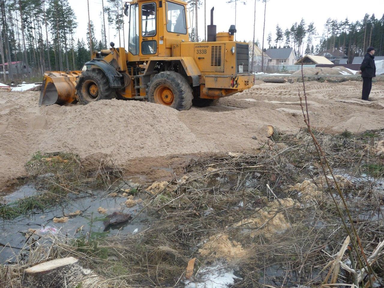 Как сделать отсыпку участка в болотистой местности